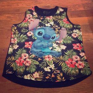 Disney XL Stitch tropical tank top XL